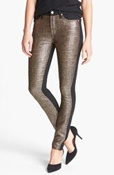 7 For All Mankind® 'Malhia Kent - The Pieced Skinny' Jacquard Jeans (Egyptian Gold Tweed)
