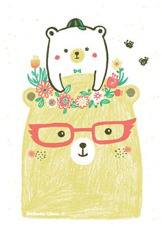 Mum and baby bear by Belinda Chen, via Behance