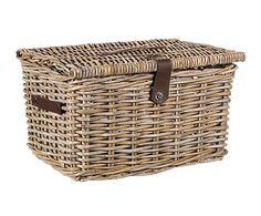 Cesta para picnic de rattan Waboo - 30x40 cm
