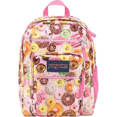 JanSport Big Student School Backpack  - MULTI DONUTS
