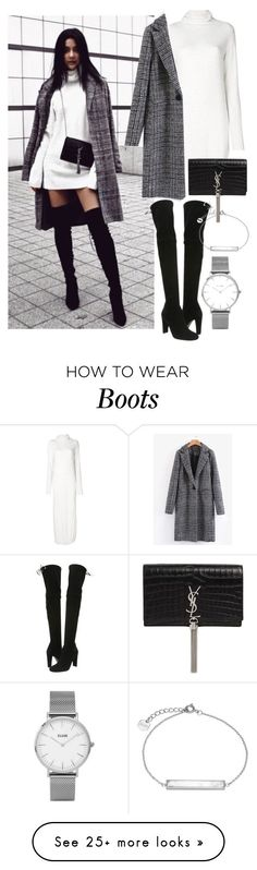 """instagram: florencia95"" by florencia95 on Polyvore featuring Lost & Found, Yves Saint Laurent, Stuart Weitzman, Topshop and CLUSE"