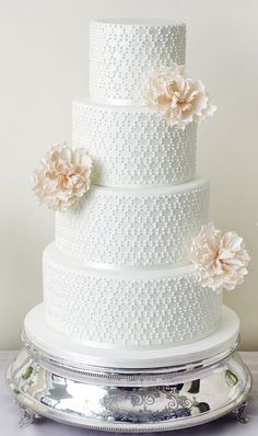 Wedding cake idea; Featured Cake: The Abigail Bloom Cake Company