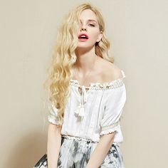 strapless loose blouse with strings