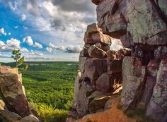 East Bluff view from Devil's Doorway at Devil's Lake State Park    http://www.devilslakewisconsin.com