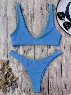 SHARE & Get it FREE | High Cut Scoop Bikini Set - Blue MFor Fashion Lovers only:80,000+ Items • New Arrivals Daily Join Zaful: Get YOUR $50 NOW!