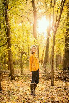 Senior girl in the Fall woods!
