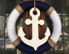 Anchor Wreath Navy Wreath Blue & Gold Wreath by MyShopWreaths