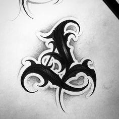 "569 gilla-markeringar, 7 kommentarer - Antonio (@a_scherbik) på Instagram: ""First day of @bigmeas #26challenge #lettering #tattooart #letters #script #scripture #blackworkers…"" Tattoo Lettering Styles, Chicano Lettering, Graffiti Lettering Fonts, Tattoo Script, Lettering Design, Alphabet Tattoo Designs, Tattoo Fonts Alphabet, Fonte Alphabet, Doodle Tattoo"