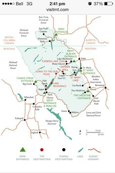 ficial Yellowstone Park Map