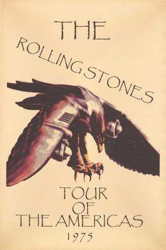 The Rolling Stones - Concert Poster (1975) Tour United Sates  Canada (14 x 22 Inches - 36cm x 56cm) - http://satehut.com/the-rolling-stones-concert-poster-1975-tour-united-sates-canada-14-x-22-inches-36cm-x-56cm/