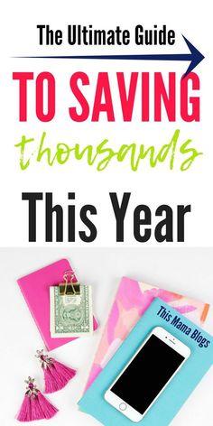100+ Smart Ways to Save Money in 2018 #personalfinance #financialfreedom #savemoney #savemoneytips #moneysavingtips