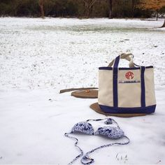 as the snow starts to melt, we can't help but think of warm summer days filled with bikinis and boat totes. we love this picture shared by @peekawhoo! check out that adorable #monogram on the madras tote! #bikini #boattote #summer #snow #buckheadbetties