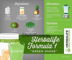 Herbalife Formula One Green Shake Nutrition Month, Nutrition Tips, Health And Nutrition, Nutrition Quotes, Nutrition Shakes, Herbalife Nutrition, Herbalife Dieta, Herbalife Protein, Herbalife Plan