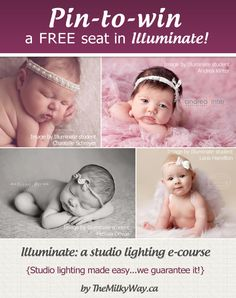 Win a free spot to learn studio lighting the easy way with @The Milky Way – a photographer's resource. http://themilkyway.ca/illuminate-giveaway/