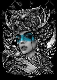 Digital Ink, Cross Hatching, Occult Art, Human Skull, Neo Traditional Tattoo, Surreal Art, Ink Art, Black Metal, Cover Art
