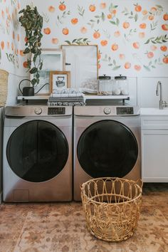 This formerly small dark rental proves the power of paint and styling in a space you don't own. | House Tours by Apartment Therapy #housetours #rental #rentaldecor #laundryroom #laundryroomideas #boho #bohodecor #peach Room Makeover, Room, Interior, Home, Room Inspiration, House Rental, Black Side Table, Inspiring Spaces, Interior Design