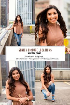 Houston senior photographer, Tomayia Colvin, shares a list of super cool and hip places to take senior pictures in Houston, Texas for free!
