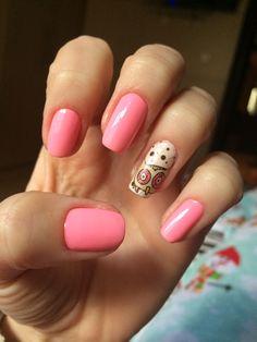 Unha filha única corujinha #unhas #nails #rosinha #filhaunica #coruja #owl #inlove