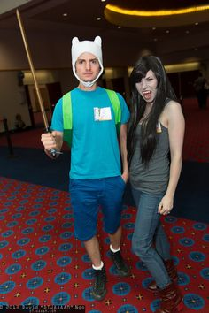 Finn and Marceline (from ADVENTURE TIME!)
