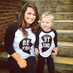 Hey, I found this really awesome Etsy listing at https://www.etsy.com/listing/224675803/best-friends-raglan-mommy-me-shirts