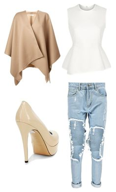"""""""Untitled #39"""" by aneela-57 ❤ liked on Polyvore featuring Boohoo, Alexander Wang, Pollini and Burberry"""