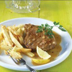 Νουά λεμονάτο παραδοσιακό Greek Recipes, Meat Recipes, Recipies, Steak, Pork, Favorite Recipes, Beef, Meat Food, Food Food