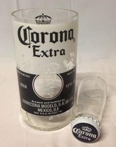 Upcycled Carona Beer Bottle Shot Glass Chaser Set on Etsy, $8.00