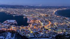 Hakodate - Mt. Hakodate [Explored] Hakodate, Night Shot, Beautiful Scenery, City Photo, My Photos, Wanderlust, Japan, Explore, Places