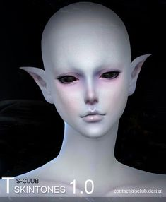 Skins: ET skin by S-Club from The Sims Resource Sims 4 Cc Skin, Sims Cc, Sims 4 Body Mods, Sims Packs, Queen Makeup, Sims Resource, Ts4 Cc, Overlays, Halloween Face Makeup