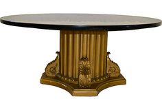 Giltwood Marble-Top Coffee Table on OneKingsLane.com