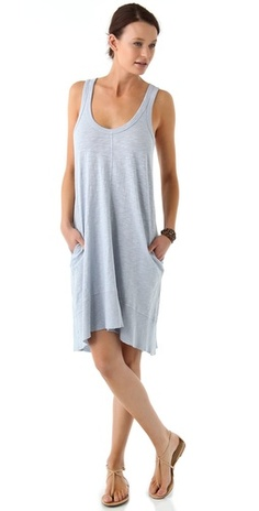 Slubbed mid-weight jersey tank dress in 100% cotton. By Wilt +.