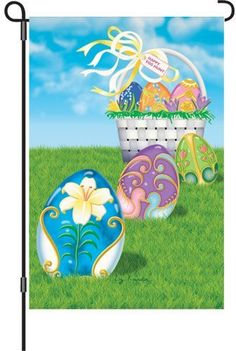 Premier Kites 51821 Garden Brilliance Flag, Easter Egg Hunt, 12 by 18-Inch by Premier Kites. $9.77. Colorful design. Fade and mildew resistant. Garden brilliance flag. Measures 12-inch width by 18-inch length. Available in the easter egg hunt theme. This garden brilliance flag has quality nylon fabric and stitching. Colorful design. Fade and mildew resistant. Available in the easter egg hunt theme. Measures 12-inch width by 18-inch length.. Save 18% Off!