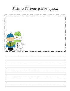 French writing prompts - Feuilles d' Read In French, French Class, Teaching French, France, Document, Literacy Centers, Writing Prompts, Homeschool, Teacher