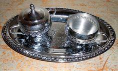 Vintage Silver Creamer & Sugar Bowl