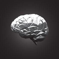 Paper Abstract Human Brain on Dark Background Vector Illustration Stock Vector