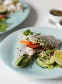 Low FODMAP Recipe and Gluten Free Recipe - Veggie rice paper wraps  http://www.ibssano.com/low_fodmap_recipe_veggie_rice_paper_wraps.html