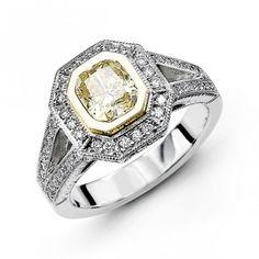 14K White Gold Halo Style Diamond Engagement Ring 0.40 ct
