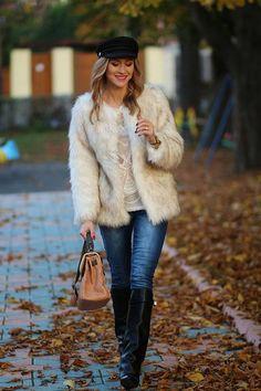 #White #Faux #Fur #Coat