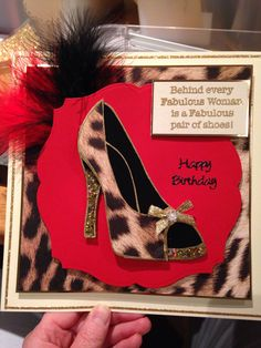 Stamps by chloe, shoe stamp , happy birthday card, leopard print ! Luv it