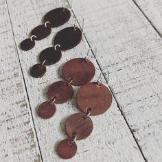 Leather Trinity Earrings