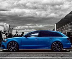 RS6 in Miami Blue #RS6p Audi RS6 in Miami Blue