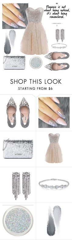 """Shine Bright Like Diamond"" by edyta-murselovic ❤ liked on Polyvore featuring Love Moschino, WithChic and Clé de Peau Beauté"
