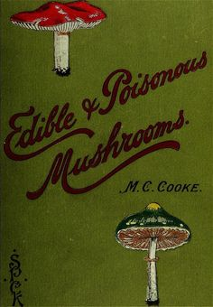 """geisterseher: """" M. Cooke, Edible and poisonous mushrooms: what to eat and what to avoid . With eighteen coloured plates illustrating forty-eight species """" Vintage Book Covers, Vintage Books, Book Cover Art, Book Art, Poisonous Mushrooms, Growing Mushrooms, Edible Mushrooms, Beautiful Book Covers, Green Books"""