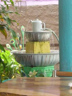 La Fonda Paisa. Cartagena, Colombia 20.12 Fonda Paisa, Fountain, Gardening, Outdoor Decor, Home Decor, Cartagena Colombia, Decoration Home, Room Decor, Lawn And Garden