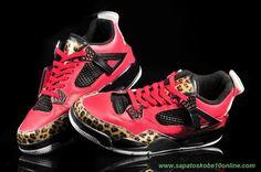 Leopard Vermelho/Preto AIR JORDAN 4 RETRO