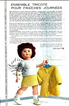 ❤ Page originale TRICOT Marie Françoise MODES ET TRAVAUX Août 1966 ❤ : 1,99 EUR