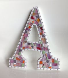 Mosaic Letter A by MollycatMosaics on Etsy, $32.00