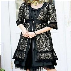plus women lace slim coat LS315 PLUS size 1X2X3X4X5X (size16-32)