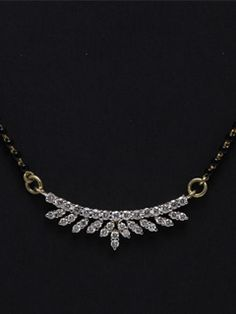 Simple yet majestically designed Diamond mangalsutra in 14kt gold for those with classy choice.