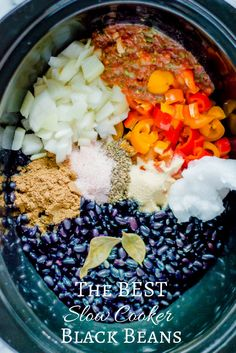 The BEST Slow Cooker Black Beans — The Natural Nurturer